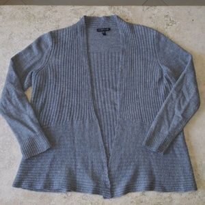 Eileen Fisher Knit Open Front Cardigan Sweater